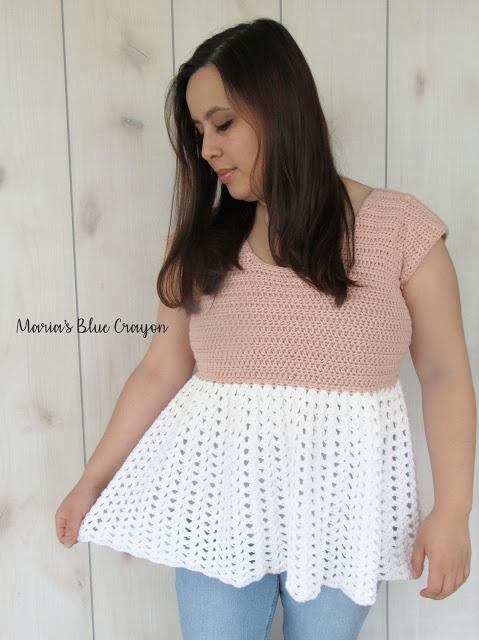 Talulah Top – Free Crochet Lacey, Ruffle Tunic Pattern