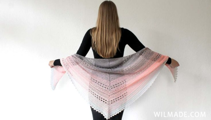 Crochet Shawl free pattern: Bella Vita Shawl by Wilmade