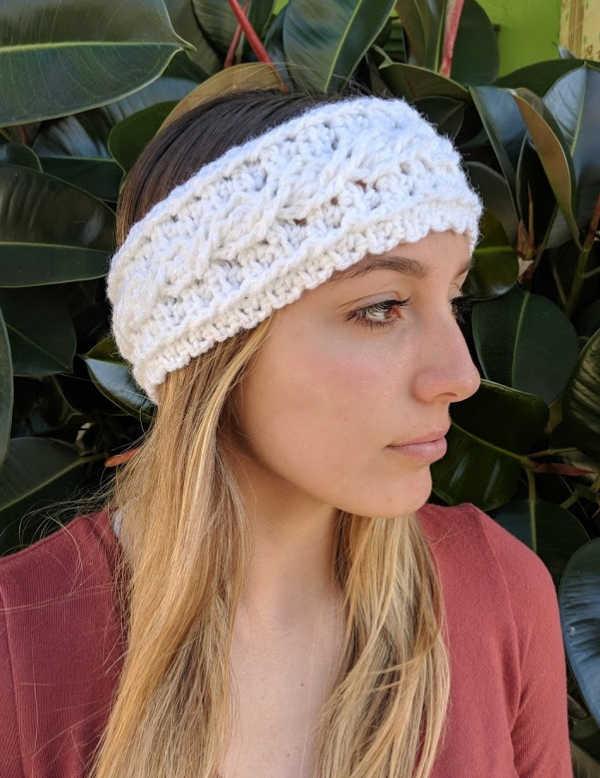 One Skein Crochet Cable Ear Warmer Headband Pattern