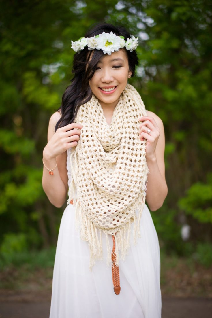 The Boho Crochet Wrap