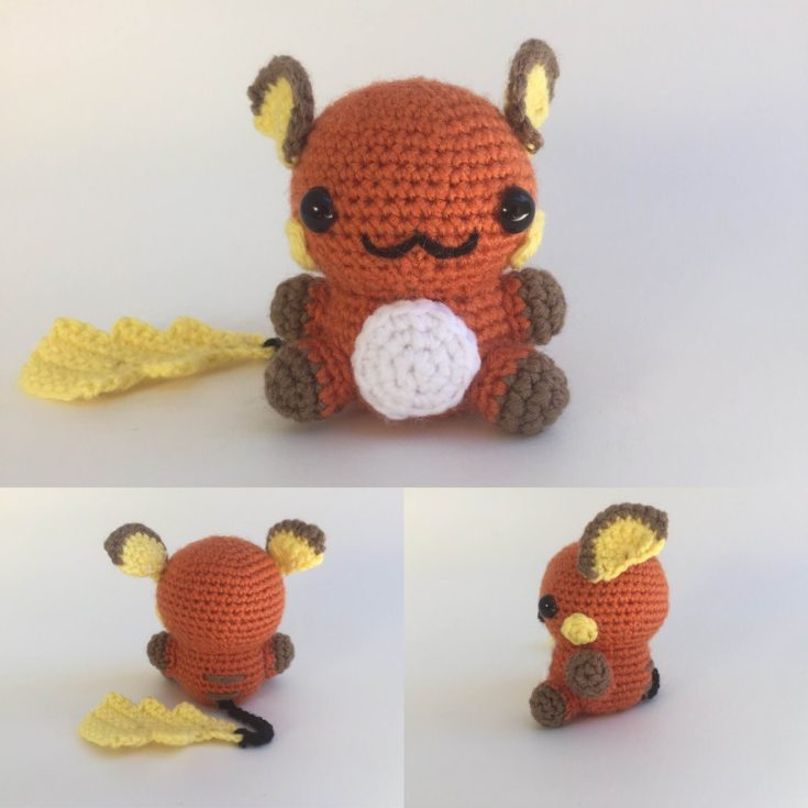 Crochet Raichu Pattern - Knot Bad
